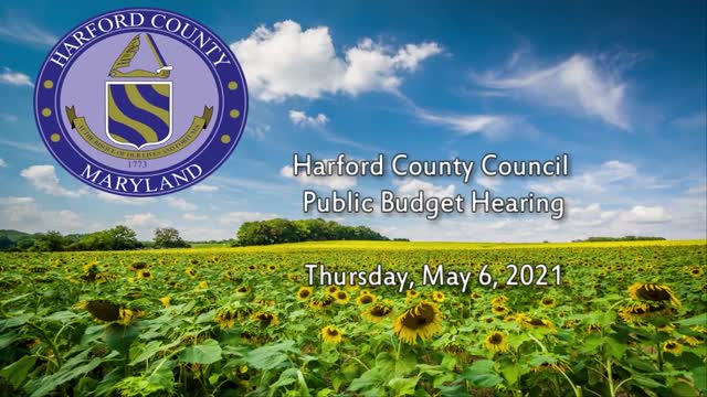 Harford County Public Budget Hearing