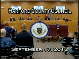 Harford County Council - September 17, 2013