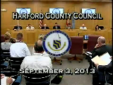 Harford County Council - September 3, 2013