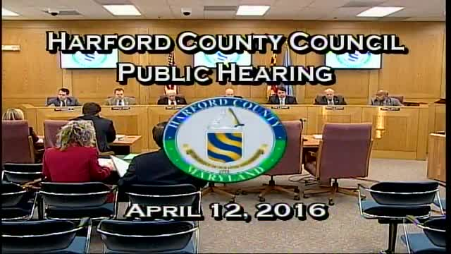 Harford County Council - April 12, 2016