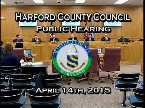 Harford County Council - April 14, 2015