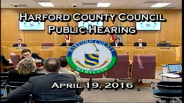 Harford County Council - April 19, 2016