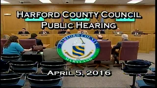 Harford County Council - April 5, 2016