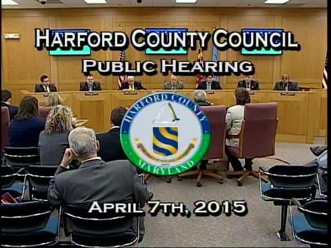 Harford County Council - April 7, 2015