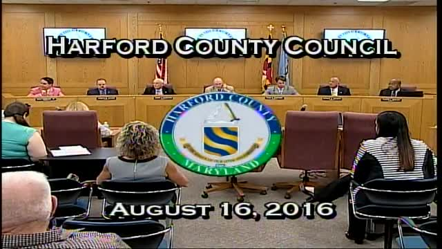 Harford County Council - August 16, 2016