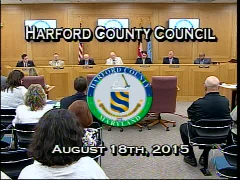 Harford County Council - August 18, 2015