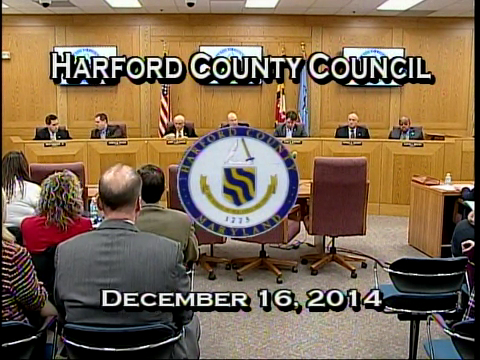 Harford County Council - December 16, 2014