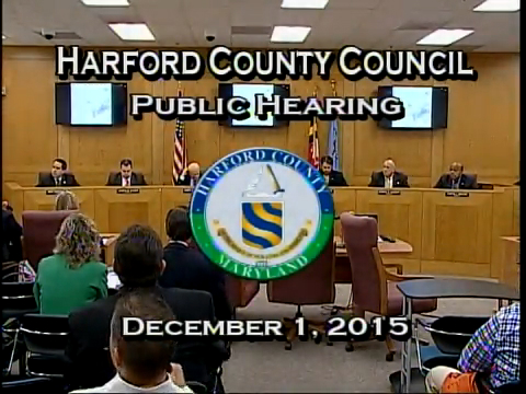 Harford County Council - December 1, 2015