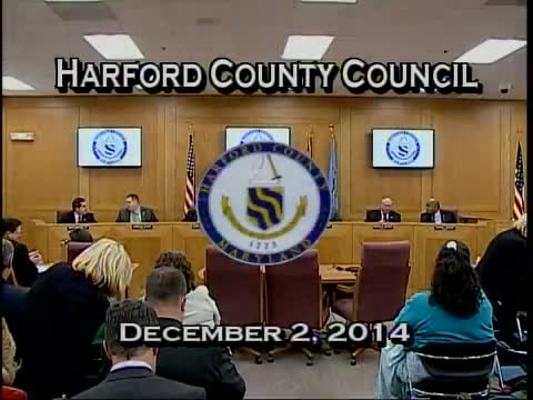 Harford County Council - December 2, 2014