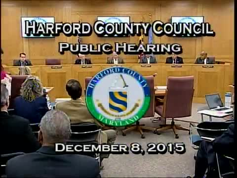 Harford County Council - December 8, 2015