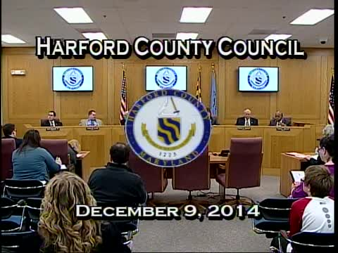Harford County Council - December 9, 2014