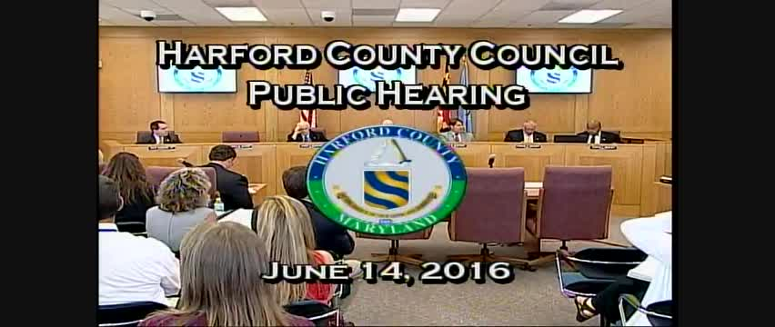 Harford County Council - June 14, 2016