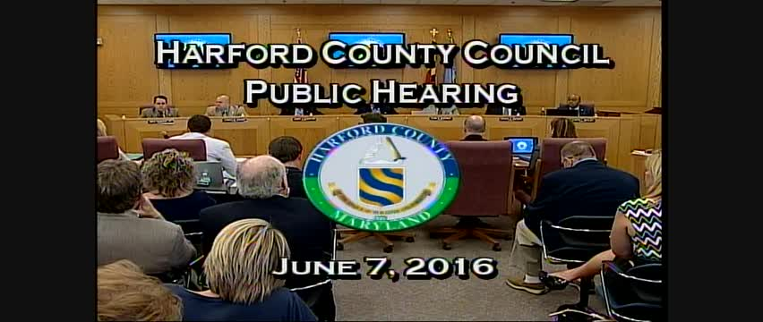 Harford County Council - June 7, 2016