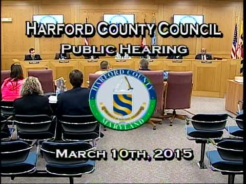 Harford County Council - March 10, 2015