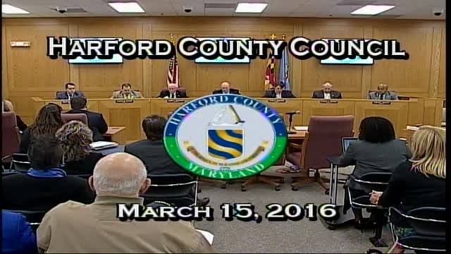 Harford County Council - March 15, 2016