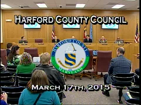 Harford County Council - March 17, 2015
