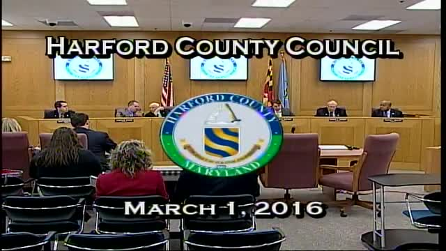 Harford County Council - March 1, 2016