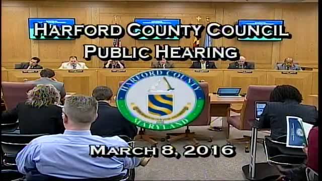 Harford County Council - March 8, 2016
