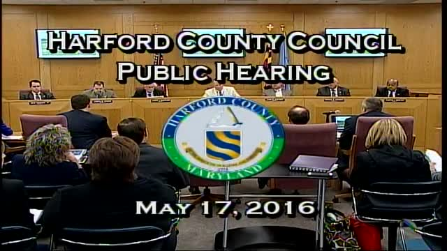 Harford County Council - May 17, 2016