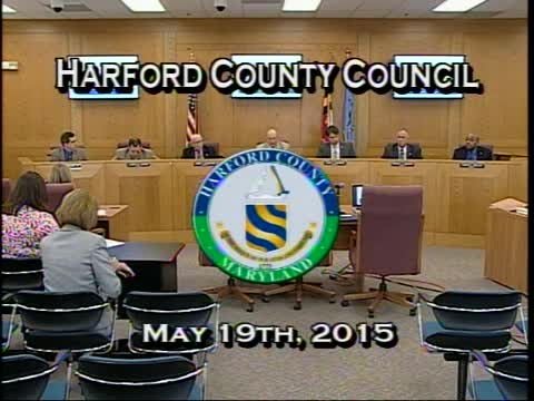 Harford County Council - May 19, 2015