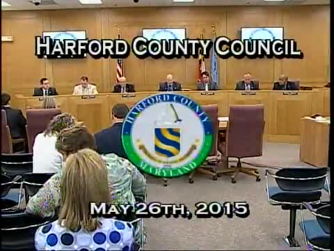 Harford County Council - May 26, 2015