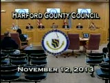 Harford County Council Meeting - November 12th, 2013