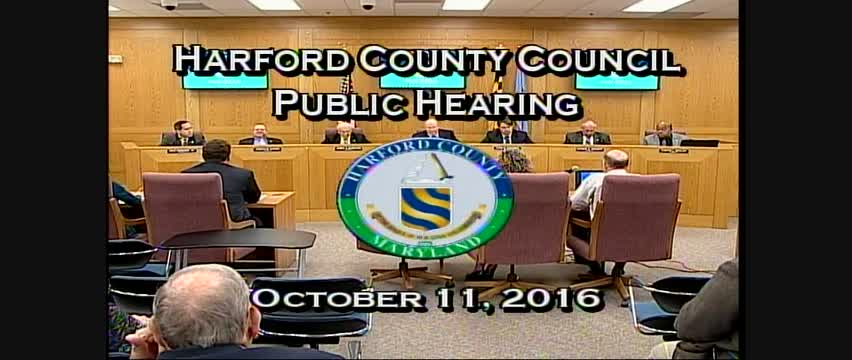 Harford County Council - October 11, 2016
