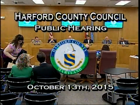 Harford County Council - October 13, 2015