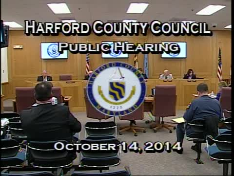 Harford County Council - October 14, 2014