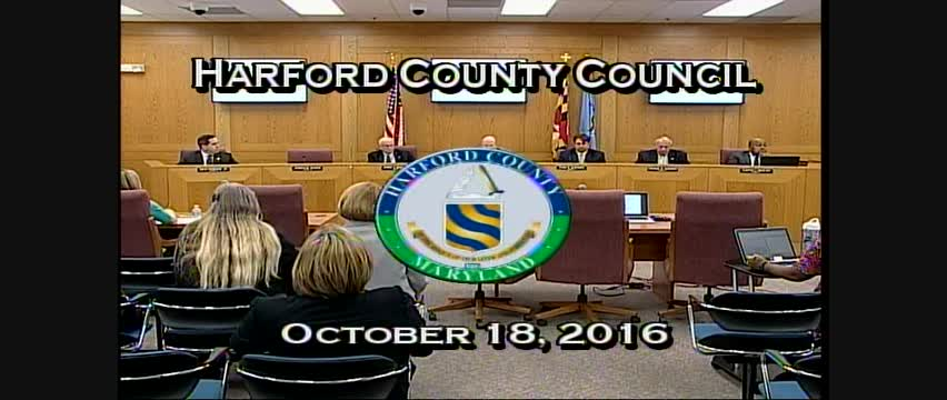 Harford County Council - October 18, 2016