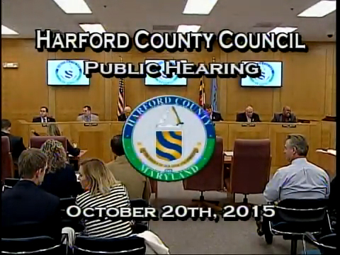 Harford County Council - October 20, 2015