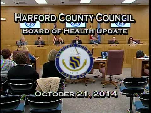 Harford County Council - October 21, 2014