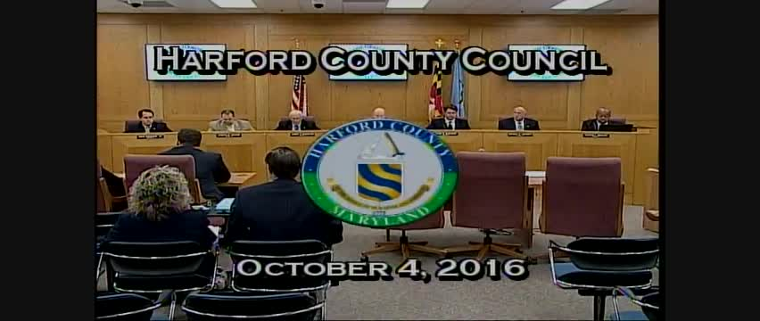 Harford County Council - October 4, 2016