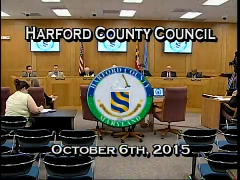 Harford County Council - October 6, 2015