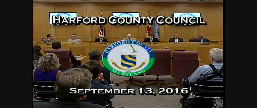 Harford County Council - September 13, 2016