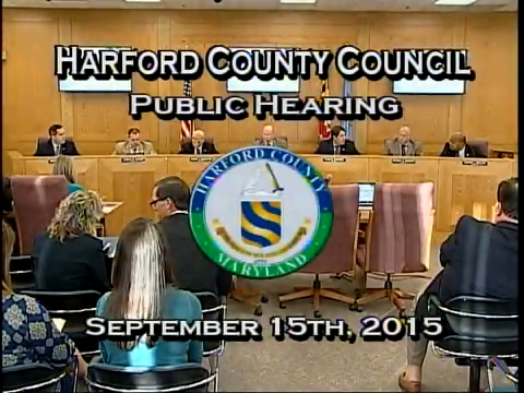 Harford County Council - September 15, 2015