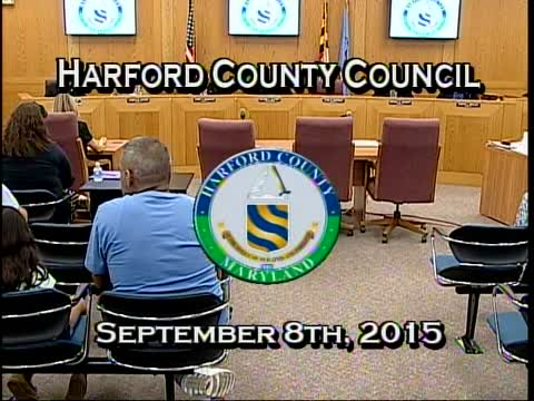 Harford County Council - September 8, 2015
