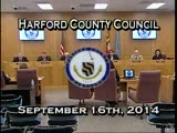 Harford County Council - September 16, 2014