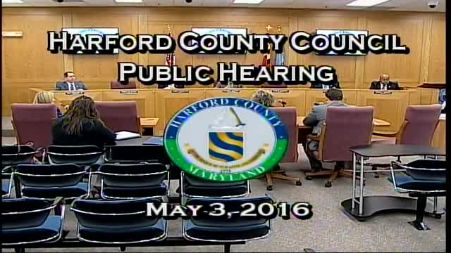 Harford County Council - May 3, 2016