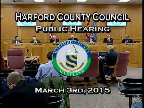 Harford County Council - March 3, 2015