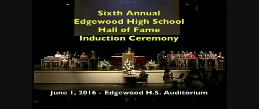 6th Annual Edgewood High School Hall of Fame Ceremony