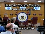 Harford County Council - October 7, 2014