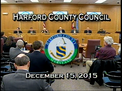 Harford County Council - December 15, 2015