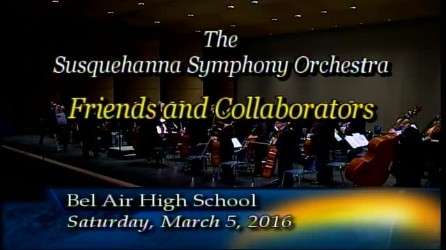Susquehanna Symphony Orchestra - March 5, 2016